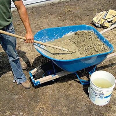 Hand Mixing Mortar