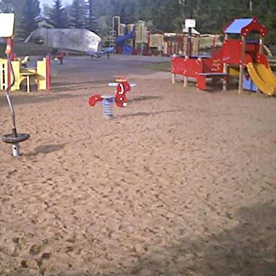 Red Mortar Sand in a Playground