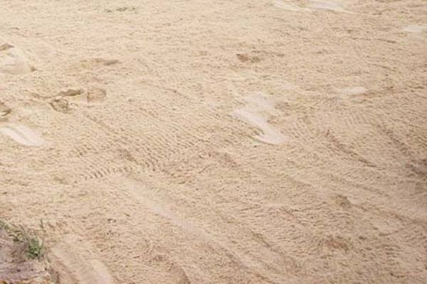 Concrete Sand on a Volleyball Court