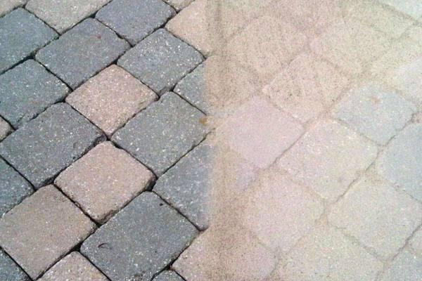 Sweeping Sand Into Paver Cracks