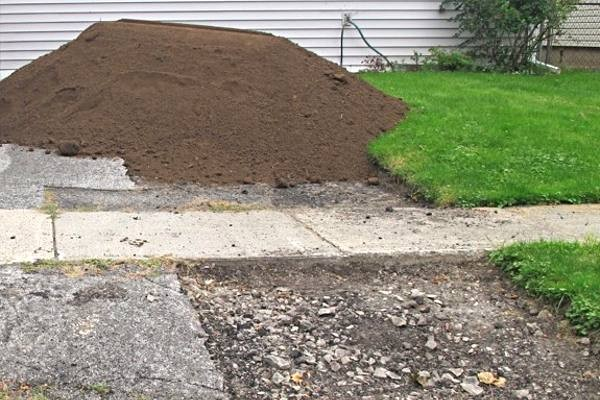 Topsoil can make an eyesore disappear overnight