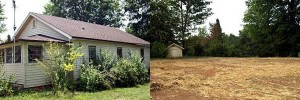 Before and After Photo of old house in Maiden, NC